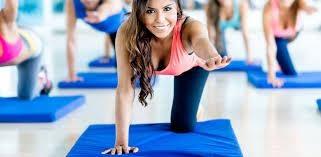 a girl on a gym mat