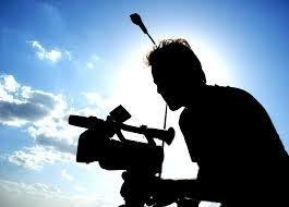 Camera person with high level camera