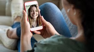 girl on a phone screen