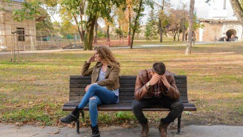 sad boy and girl