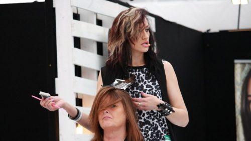 hair stylist in a salon