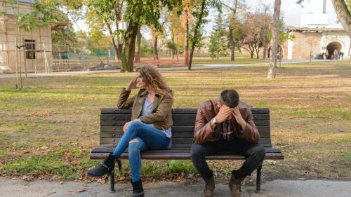 couple stressed after a fight
