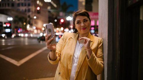 a girl taking a selfie